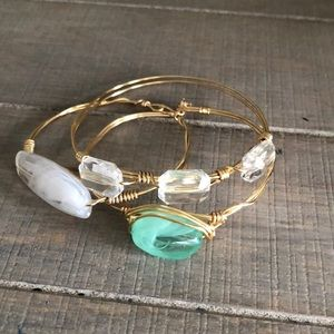 Camden & Shay gorgeous gold wire wrapped bangle